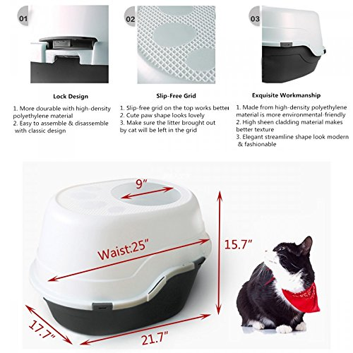 Favorite Large Top Entry Cat Litter Box Slash Pets