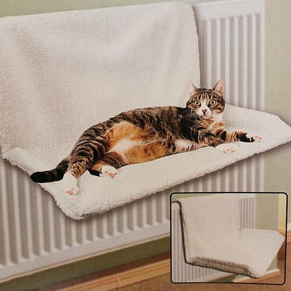 Лежак для кошки на радиатор своими руками