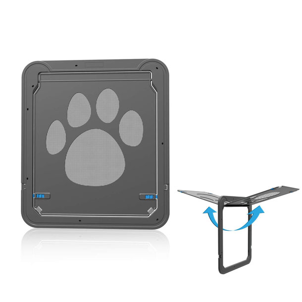 Kailian pet door with automatic lock slash pets for Automatic locking dog door