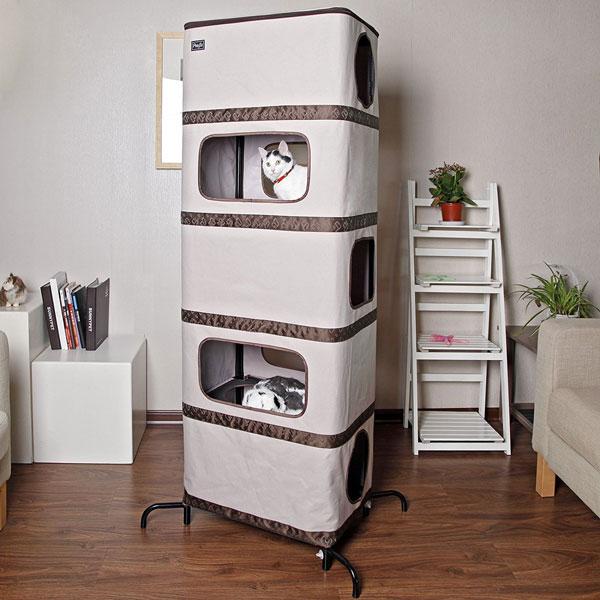 petsfit play tower cat tree slash pets. Black Bedroom Furniture Sets. Home Design Ideas