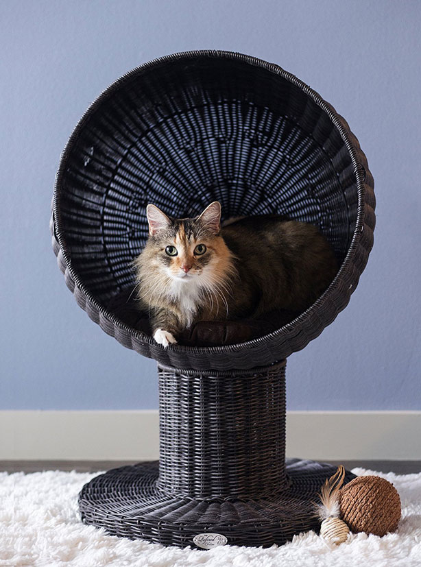 Kitty Ball Rattan Cat Bed Slash Pets
