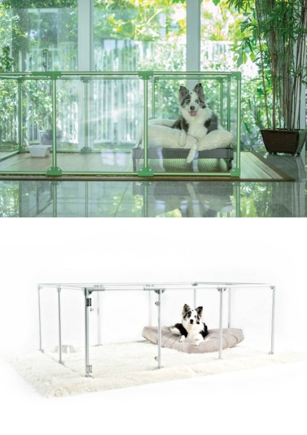 Lucidium Dog Pen Indoor Enclosure With Clear Panels