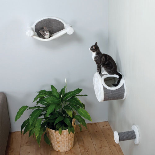 Trixie-Wall-Mounted-Cat-Lounging-Set