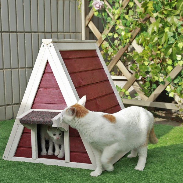 Petsfit Outdoor Kitty House Slash Pets
